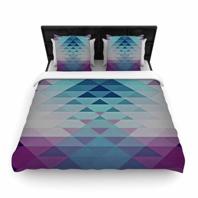 Nika Martinez Hipster Woven Duvet Cover Color: Blue/Lavender, Size: Twin