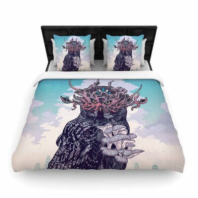 Mat Miller Journeying Spirit (Owl) Fantasy Woven Duvet Cover Size: King