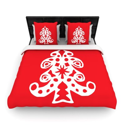 Miranda Mol Noble Pine Holiday Woven Duvet Cover Size: King