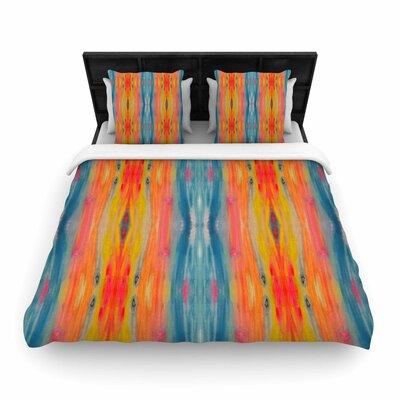 Nika Martinez Boho Tie Dye Woven Duvet Cover Size: Full/Queen