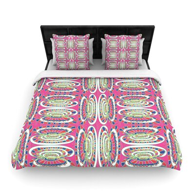 Miranda Mol Bohemian Wild Abstract Woven Duvet Cover Size: Full/Queen