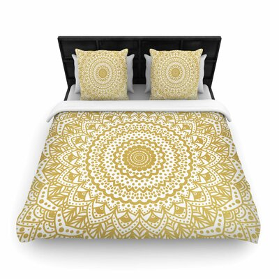 Nika Martinez Mandala Illustration Woven Duvet Cover Size: Full/Queen