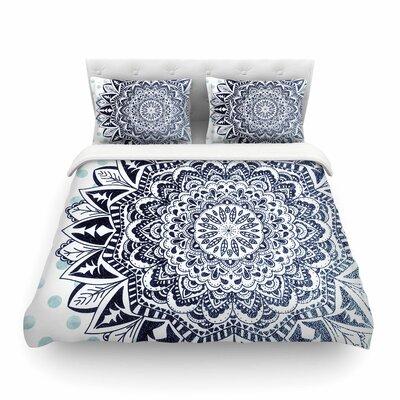 Nika Martinez Dots Mandala Illustration Featherweight Duvet Cover Size: King