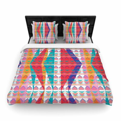 Miranda Mol Triangle Illusion Geometric Woven Duvet Cover Size: King