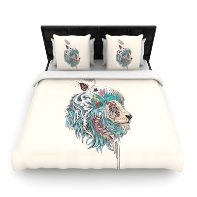 Mat Miller Unbound Autonomy Abstract Lion Woven Duvet Cover
