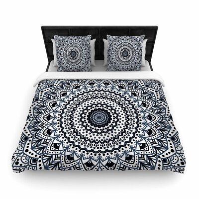 Nika Martinez Boheme Dream Mandala Illustration Woven Duvet Cover Size: Full/Queen