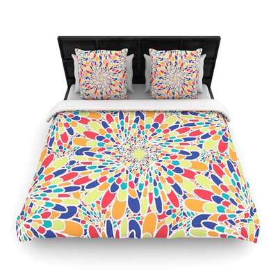 Miranda Mol Flourishing Geometric Woven Duvet Cover Size: Full/Queen