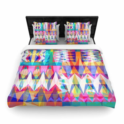 Miranda Mol Triangle Collage Geometric Woven Duvet Cover Size: King