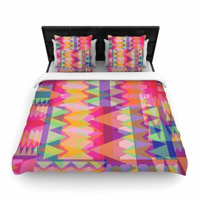 Miranda Mol Triangle Fun Woven Duvet Cover Size: King