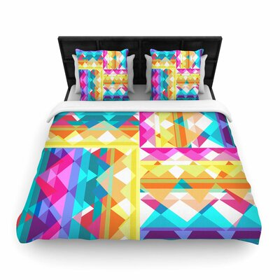Miranda Mol Triangle Checker Woven Duvet Cover Size: Full/Queen