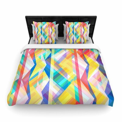 Miranda Mol Triangle Rhythm Geometric Woven Duvet Cover Size: King