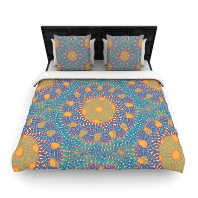 Miranda Mol Prismatic Abstract Woven Duvet Cover Size: Twin, Color: Orange