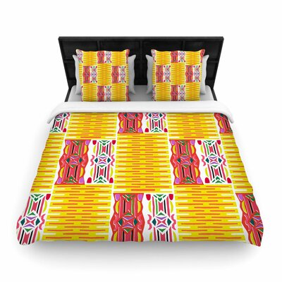 Miranda Mol Cool Summer Woven Duvet Cover Size: King