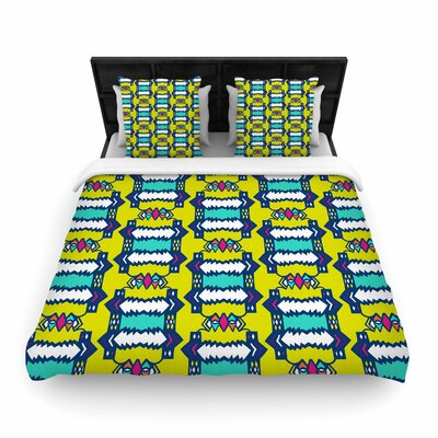 Miranda Mol Party Vibes Woven Duvet Cover Size: Full/Queen