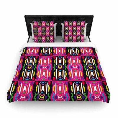 Miranda Mol Lets Party Woven Duvet Cover Size: King