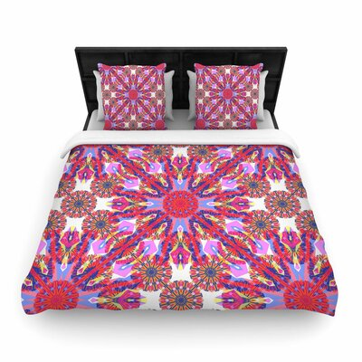 Miranda Mol Kaleidoscopic Floral Woven Duvet Cover Size: Full/Queen