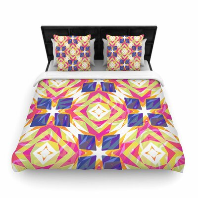 Miranda Mol Dancing Tiles Woven Duvet Cover Size: Twin