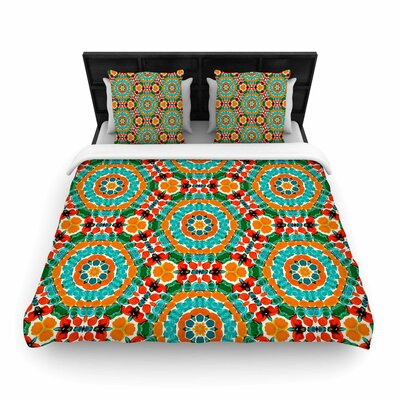 Miranda Mol Hexagon Tiles Pattern Woven Duvet Cover Size: Full/Queen