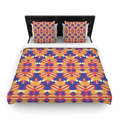 Miranda Mol Ethnic Border Woven Duvet Cover Size: King