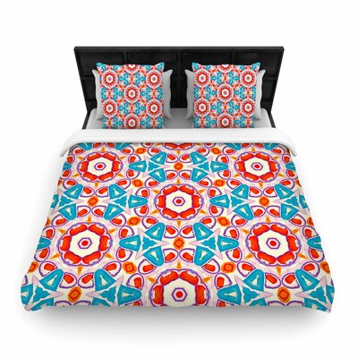 Miranda Mol Kaleidoscopic Circles Pattern Woven Duvet Cover Size: Twin