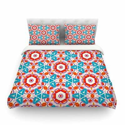 Miranda Mol Kaleidoscopic Circles Pattern Featherweight Duvet Cover Size: Twin