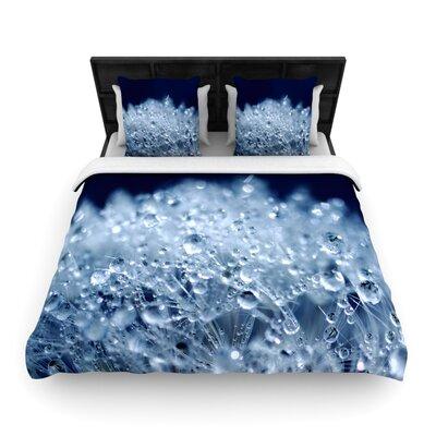 Monika Strigel Dandelion Diamonds Woven Duvet Cover Color: Blue, Size: Full/Queen