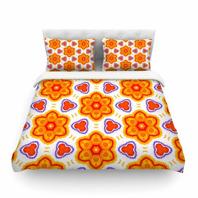 Miranda Mol Kaleidoscopic Flowers Floral Featherweight Duvet Cover Size: Twin