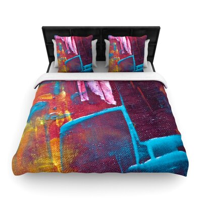 Malia Shields Cityscape Abstracts II Painting Woven Duvet Cover Size: King