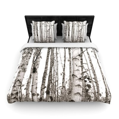 Monika Strigel Birchwood Forest Woven Duvet Cover Size: Twin