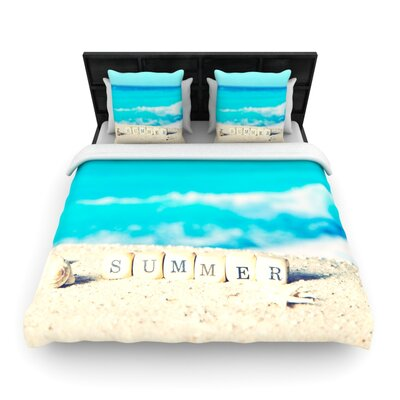 Monika Strigel Summer at the Beach Coastal Woven Duvet Cover Size: Twin