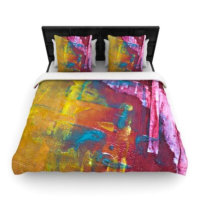 Malia Shields Cityscape Abstracts III Woven Duvet Cover Size: King