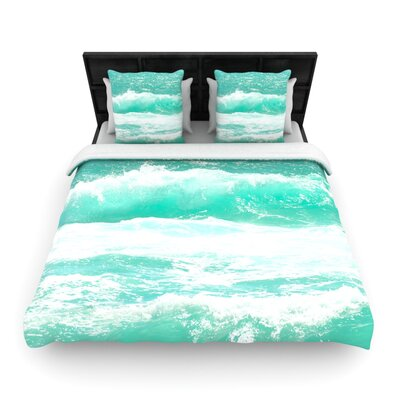 Monika Strigel Maui Waves Woven Duvet Cover Size: King