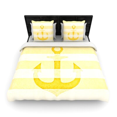 Monika Strigel Stone Vintage Anchor Woven Duvet Cover Size: King, Color: Yellow