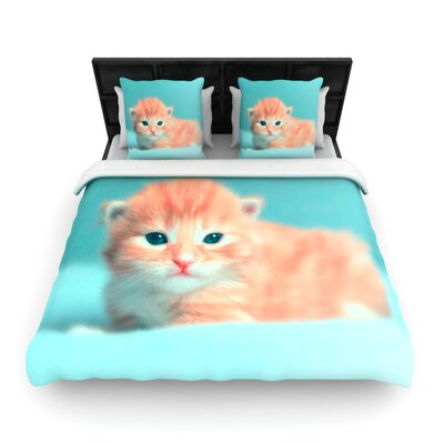 Monika Strigel Dreamcat Woven Duvet Cover Size: King