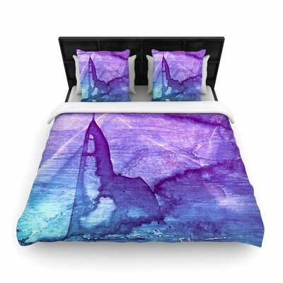 Malia Shields Abstract Series 2 Woven Duvet Cover Size: King