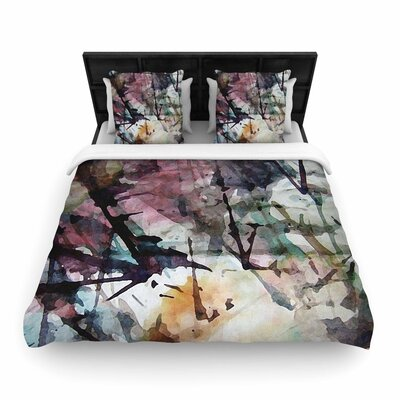 Malia Shields Abstract Trees Abstract Painting Woven Duvet Cover Size: King
