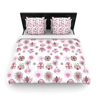 Marianna Tankelevich Cute Stuff Illustration Woven Duvet Cover Size: King