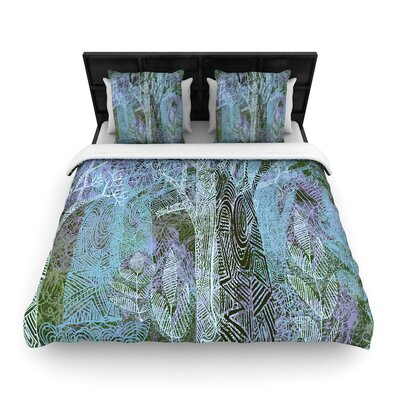 Marianna Tankelevich Wild Forest Trees Woven Duvet Cover Size: Twin