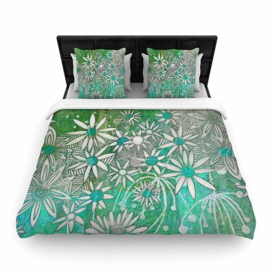 Marianna Tankelevich Spring Daisies Woven Duvet Cover Size: King