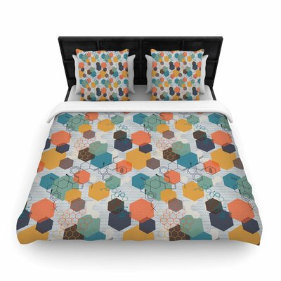 Maike Thoma Biomolecular Science Woven Duvet Cover Size: Full/Queen