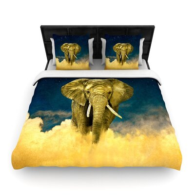 Nick Atkinson Celestial Elephant Woven Duvet Cover Size: Full/Queen