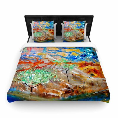 Nathan Gibbs Art the Earth Shows Its End Woven Duvet Cover Size: King