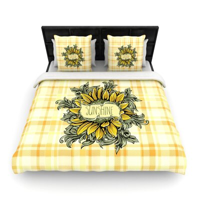 Nick Atkinson Sunflower Sunshine Woven Duvet Cover Size: Full/Queen