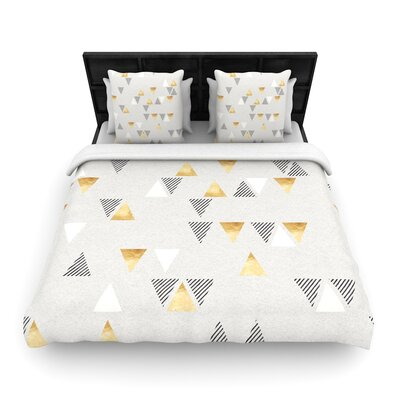 Nick Atkinson Triangle Love Woven Duvet Cover Size: King