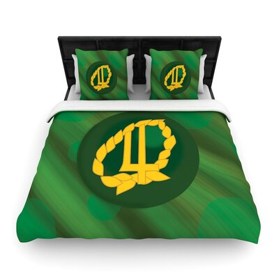 NL Designs Jupiter Emerald Woven Duvet Cover Size: Twin