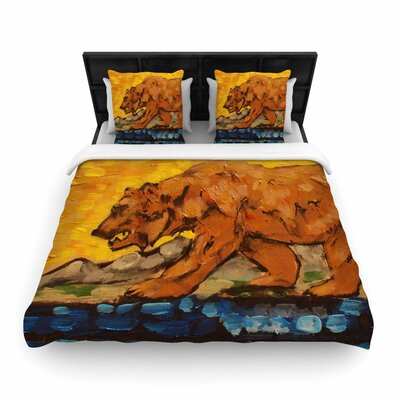 Nathan Gibbs Art for a Public Bear Woven Duvet Cover Size: Twin