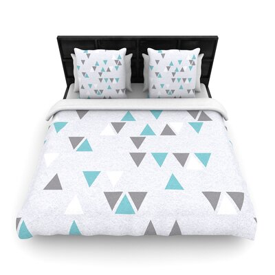 Nick Atkinson Triangle Love II Woven Duvet Cover Size: King