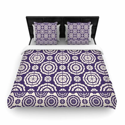 Nacho Filella Flowers Floral Woven Duvet Cover Size: King