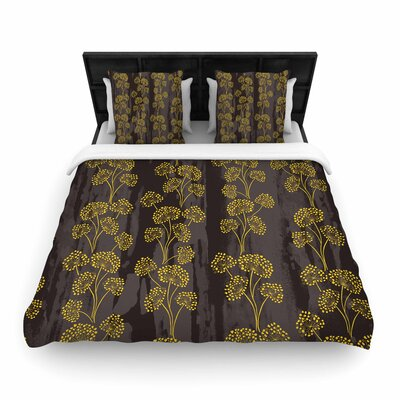 Neelam Kaur Textu Floral Elegance Woven Duvet Cover Size: Twin