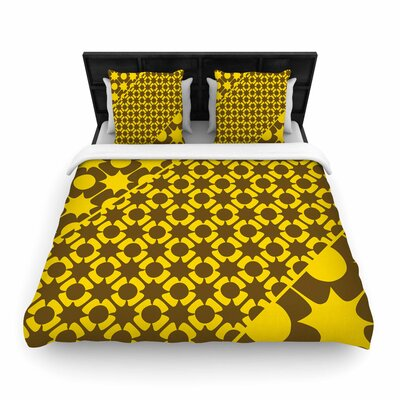 Nacho Filella Pop Vector Woven Duvet Cover Size: Twin